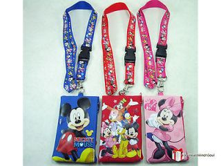 3x) Disney Mickey Mouse Friends Lanyard Fastpass ID Ticket iPhone