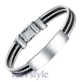 stainless steel id bracelet in Bracelets