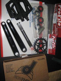PROFILE BMX BIKE CRANKS Titanium Spindle Mid BB 25T Gear Ruben FLY