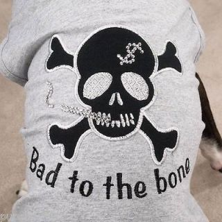 SMALL poodle min pin papillon DOG BIKER SHIRT ZACK ZOEY clothes BAD TO