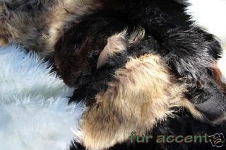 Faux Fur Fabric Remnants BEAR SKIN Accent Rugs Fake SHEEPSKIN mfg