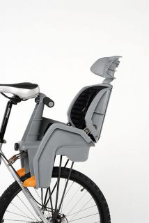 BETO BICYCLE REAR BABY SEAT DELUXE WITH RACK GREY