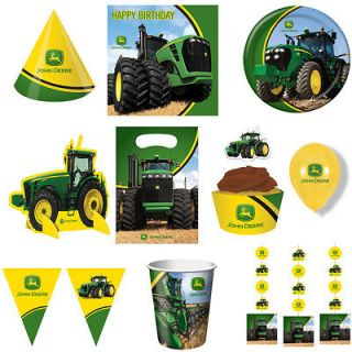 NEW JOHN DEERE BIRTHDAY PARTY SUPPLIES, TRACTOR, FARM, FREE SHIPPING