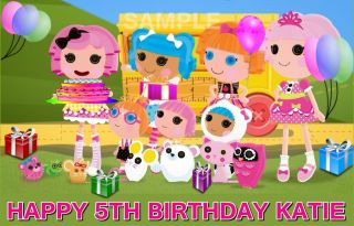 LALALOOPSY BIRTHDAY EDIBLE CAKE TOPPER IMAGE DECORATIONS