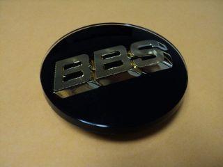 BBS BLACK WHEEL CENTER CAP 3D WITH GOLD LOGO 0923221