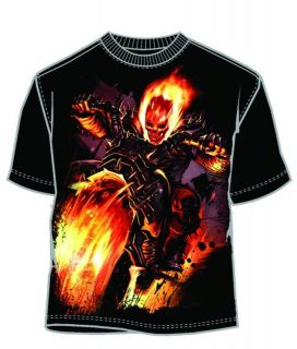 SHIRT GHOST RIDER FIRE FREAK T/S Size M L XL XXL Black Movie
