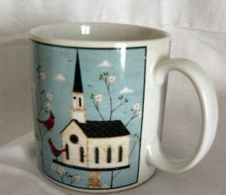 Warren Kimble Birds & Church Birdhouse Mug by Sakura Coffee Cup