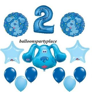 BLUES CLUES balloons party supplies decoration birthday 1ST 2ND 3RD