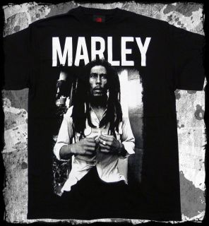 Bob Marley   Black and White photo t shirt   Official   FAST SHIP