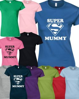 SUPERMUMMY T SHIRT SUPERWOMEN Birthday Gift Mothers Day Present SUPER