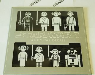 Star Wars Family Car Decals Stickers New Set of 50 Figures