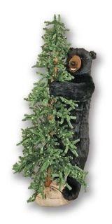 72 Ditz Pre Lit Slim Christmas Tree Standing Black Bear