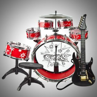 Drum Set Musical Instrument Toy Payset Music Boys Girl Kid Electric