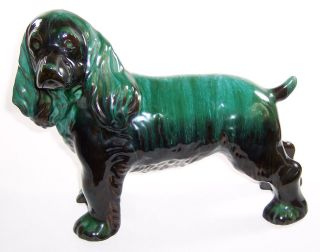 Blue Mountain Pottery HUGE Cocker Spaniel Dog Figurine