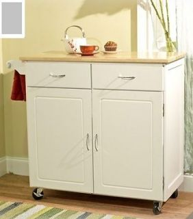 Kitchen Island Counter Breakfast Bar With Two Natural Stools Storage