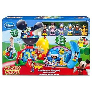 NEW DISNEY DELUXE MICKEY MOUSE CLUBHOUSE PLAYSET w/ 6 FIGURES LIGHTS