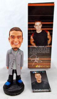 Sync JUSTIN TIMBERLAKE 2001 Bobblehead Doll   Mint in Box S10