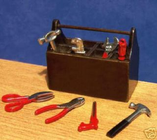 Tools Set & Wood Tool Box Steam display Tiny Engine Model Tools