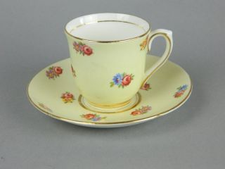 COLCLOUGH BONE CHINA LONGTON ENGLAND TEACUP AND SAUCER SET