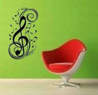 GIANT Wall Art Sticker kitchen stencil MUSIC NOTE 2