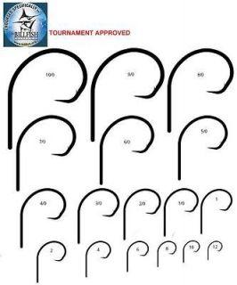 25 Mustad 39951BLN Ultra Point Size 10/0 Circle Hooks