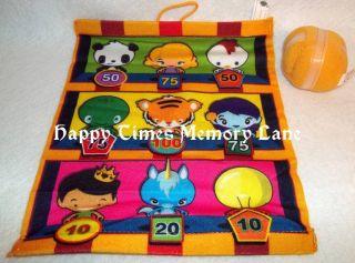 2011 BURGER KING KIDS TOY   CARNIVAL TIME   VELCRO TARGET GAME