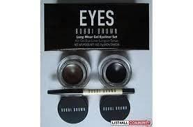 Bobbi Brown Eyeliner set Black & Brown with mini Brush