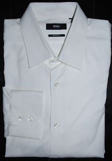 NEW MENS HUGO BOSS GULIO WHITE DRESS SHIRT SIZE 16 34/35