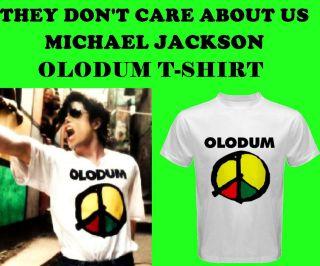 MICHAEL JACKSON OLODUM BRAZIL PEACE LOGO UNISEX T SHIRT