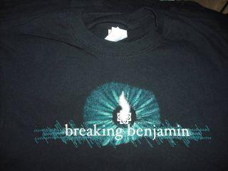 BREAKING BENJAMIN flame 2006 Tour T Shirt **NEW tour concert band
