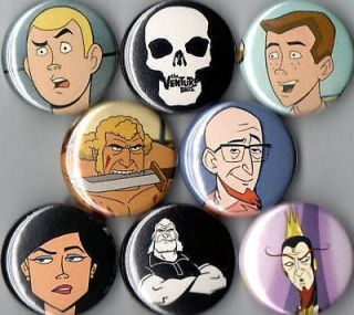 Venture Brothers 8 pins buttons badges bros skull new