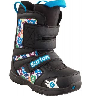 NEW Burton Youth GROM Snowboard Boots   Black / White / Multi Color