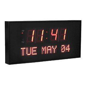 16 X 7.5 Digital Led Calendar Large Wall Clock Watch Office Home