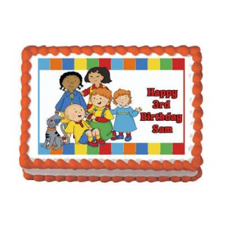 CAILLOU #2 Edible Cake birthday Party Image Topper Custom