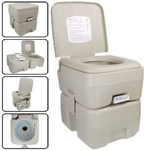 NEW 5 GAL Portable Camp Toilet Camping Flush Potty