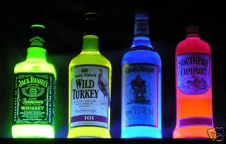 Captain Morgan GLOWING NEON Blacklight Rum Bottle    add poster sign