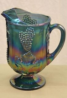 antique carnival glass pitcher