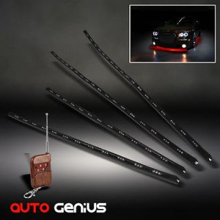 UNDERBODY CAR NEON LED BAR TUBE LIGHT GLOW SYSTEM 7 COLOR 4 STRIPS