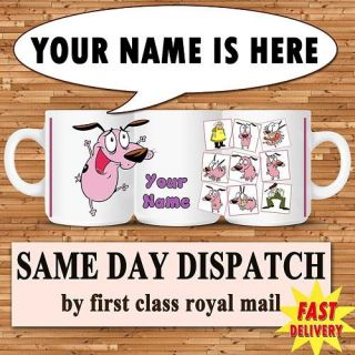 COURAGE THE COWARDLY DOG PERSONALISED MUG CUP GIFT