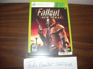 XBOX 360 FALLOUT NEW VEGAS   Promo Video Game Backer Cards Mini Poster