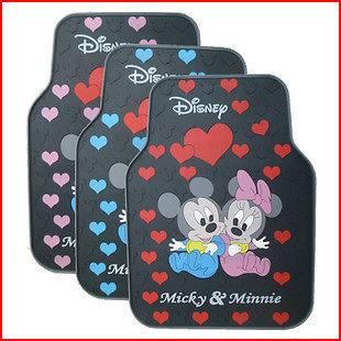 Set Mickey Minnie Mouse Waving Rubber Car Truck Floor Mats Carpet rug