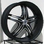 24 Black Rims Wheels CHEVROLET Chevy Truck Silverado 1500 Tahoe GMC