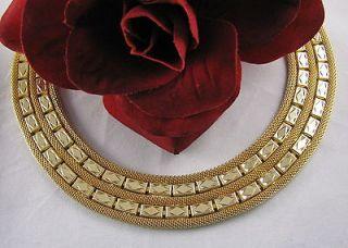 Vintage Kramer of NY Heavy Ornate Gold tone Necklace CAT RESCUE