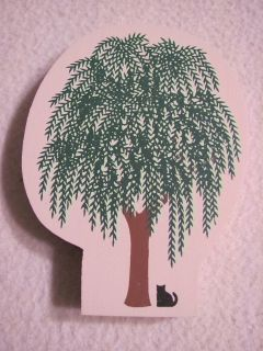 THE CATS MEOW WEEPING WILLOW TREE WOOD FIGURE ACCESSORY