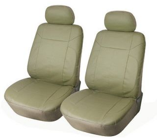 Front Car Seat Covers Compatible With Honda 153 Tan (Fits Honda
