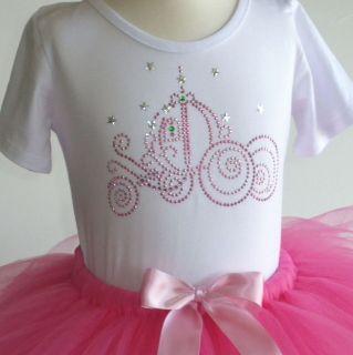 6X pink Cinderella costume tutu & SpArKle rhinestone t shirt Disney