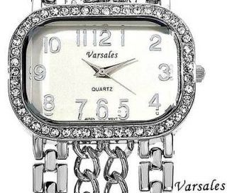 Versales Silver Crystal Ladies Quartz Watch in Presentation Case