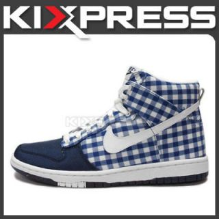 WMNS Nike Dunk High Skinny Checkers Pack Midnight Navy