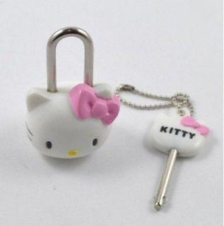 Mini Cute Hello Kitty Lock,Cartoon Safty Lock & Key (2.09x0.98x0
