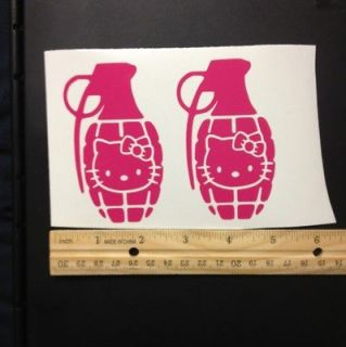 New Hello Kitty Grenade New Car Motor Truck Auto Window Vinyl Decal